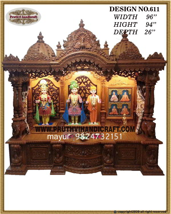 Unique Concepts for A Wooing Wooden Mandir for Home